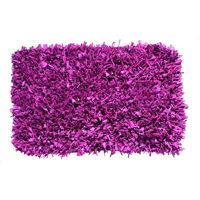 Jersey Hand-Knotted Purple Area Rug Rug Size: 2 x 3