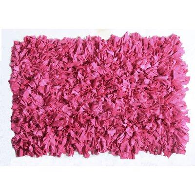 Kaylyn Shaggy Pink Area Rug Rug Size: 2 x 3