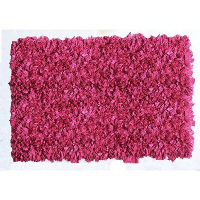 Jersey Shaggy Pink Area Rug Rug Size: 5 x 8