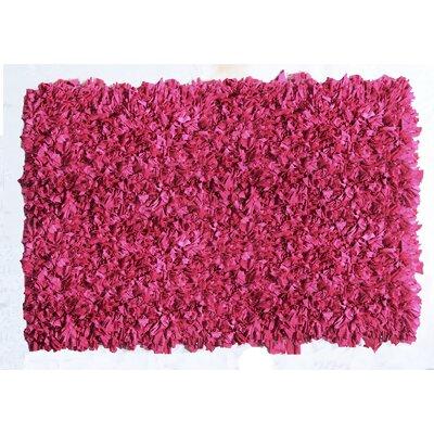 Kaylyn Shaggy Pink Area Rug Rug Size: 5 x 8