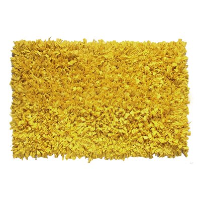 Kaylyn Hand-Knotted Yellow Area Rug Rug Size: 2 x 3