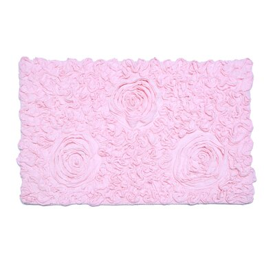 Loganne Solid Bath Rug Color: Pink
