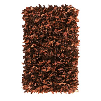 Handmade Brown Area Rug Rug Size: 19 x 29