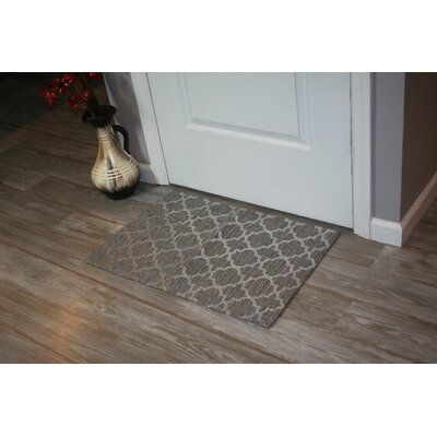 Foil Print Hand-Woven Gray Area Rug Rug Size: 2 x 3