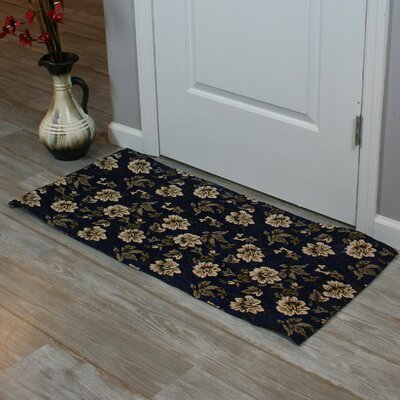 Festoon Hand-Woven Blue Indoor Area Rug Rug Size: 26 x 42