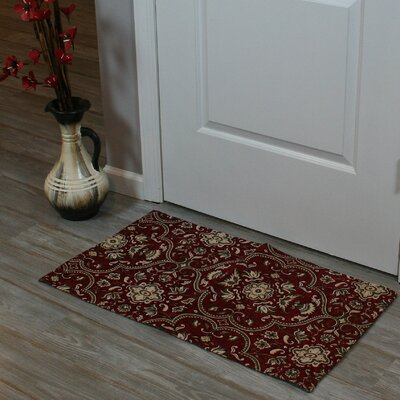 Festoon Hand-Woven Red Indoor Area Rug Rug Size: 18 x 39