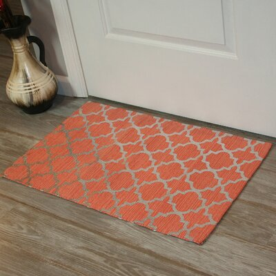 Foil Print Hand-Woven Coral Area Rug Rug Size: Rectangle 2 x 3
