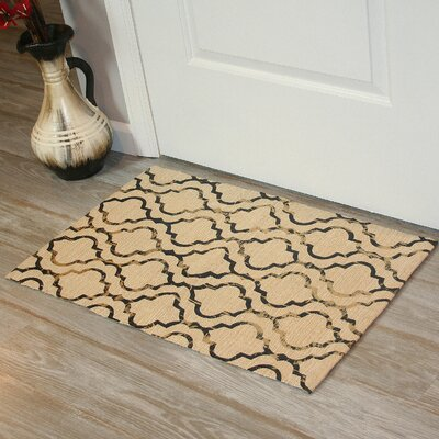 Foil Print Hand-Woven Linen Area Rug Rug Size: 2 x 3