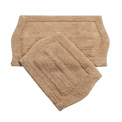 Waterford 2 Piece Bath Rug Set Color: Linen