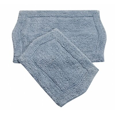 Waterford 2 Piece Bath Rug Set Color: Blue