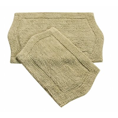 Waterford 2 Piece Bath Rug Set Color: Green
