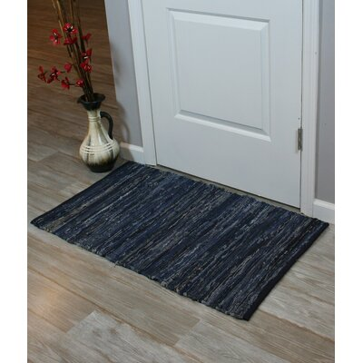 Chindi Hand-Woven Blue Denim Indoor Area Rug
