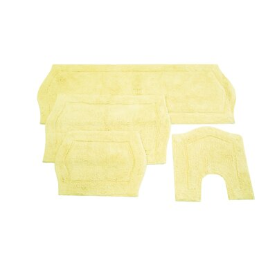 Waterford 4 Piece Bath Rug Set Color: Yellow