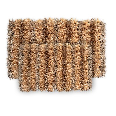 SeaBreeze 2 Piece Hand-Woven Champagne Novelty Rug Set