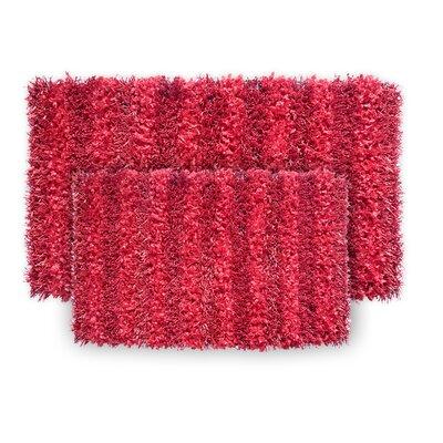 SeaBreeze 2 Piece Hand-Woven Red Novelty Rug Set