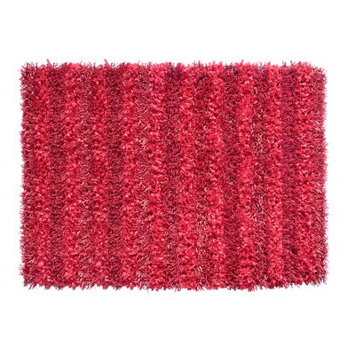 SeaBreeze Hand-Woven Red Novelty Rug
