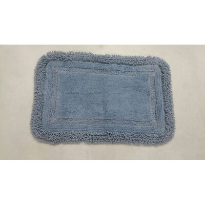 Westlake Bath Rug Size: 17 W x 24 L, Color: Blue