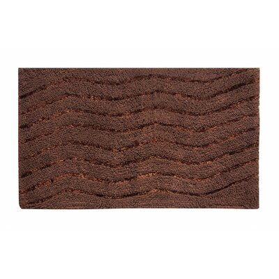 Artesia Bath Rug Color: Chocolate, Size: 21 W x 34 L