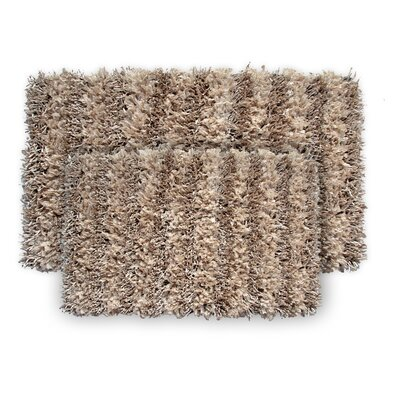 SeaBreeze 2 Piece Hand-Woven Sand Novelty Rug Set