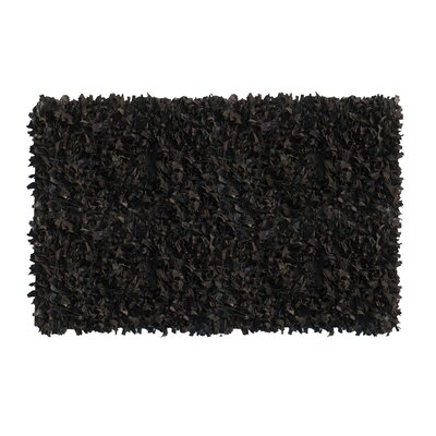 Handmade Black Area Rug Rug Size: Rectangle 36 x 57