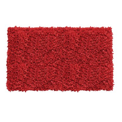 Kaylyn Hand-Knotted Red Area Rug Rug Size: 5 x 8