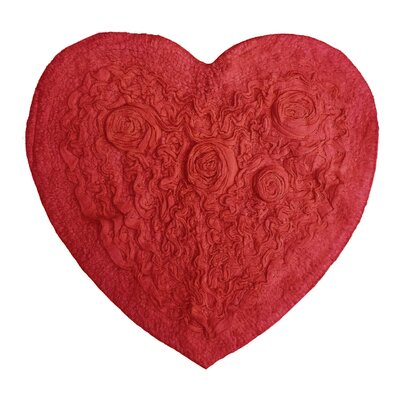Pascoe Heart Shaped Bath Rug Color: Red