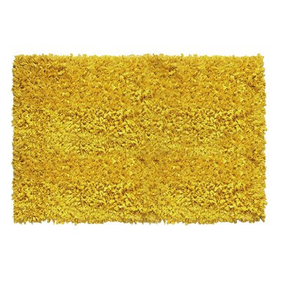 Kaylyn Hand-Knotted Yellow Area Rug Rug Size: 5 x 8