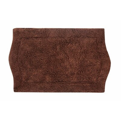 Waterford Bath Rug Color: Chocolate, Size: 21 W x 34 L