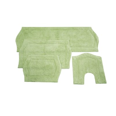 Shera 4 Piece Bath Rug Set Color: Sage
