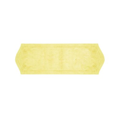 Waterford Bath Rug Size: 22 W x 60 L, Color: Yellow