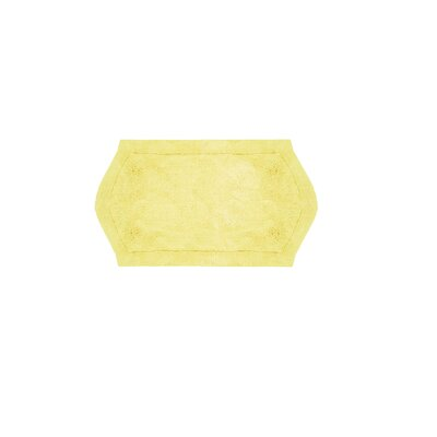 Shera Bath Rug Size: 17 W x 24 L, Color: Yellow