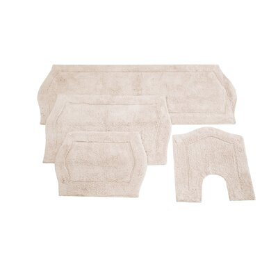 Waterford 4 Piece Bath Rug Set Color: Natural