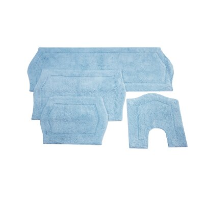 Waterford 4 Piece Bath Rug Set Color: Blue