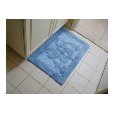 Lake Wood Bath Rug Color: Blue