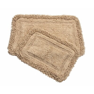 Westlake 2 Piece Bath Rug Set Color: Beige