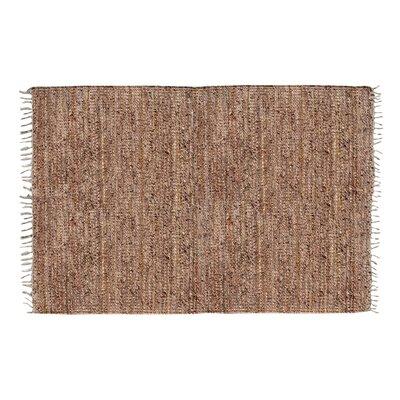 Recio Hand-Woven Tan Area Rug Rug Size: Rectangle 5 x 8