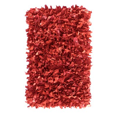 Handmade Red Area Rug Rug Size: Rectangle 8 x 10