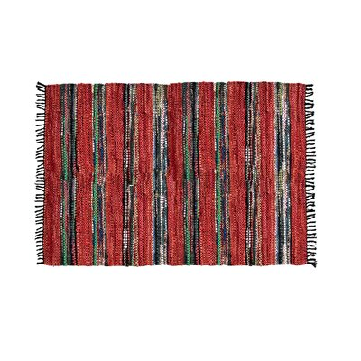 Handmade Red Area Rug Rug Size: Rectangle 5 x 8
