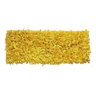 Jersey Hand-Knotted Yellow Area Rug Rug Size: Runner 2 x 6