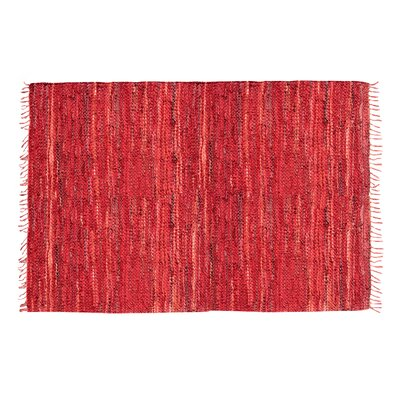 Rodeo Handmade Red Area Rug Rug Size: Round 3