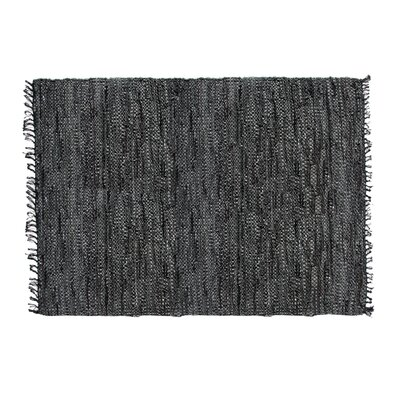 Rodeo Handmade Black Area Rug Rug Size: Round 3