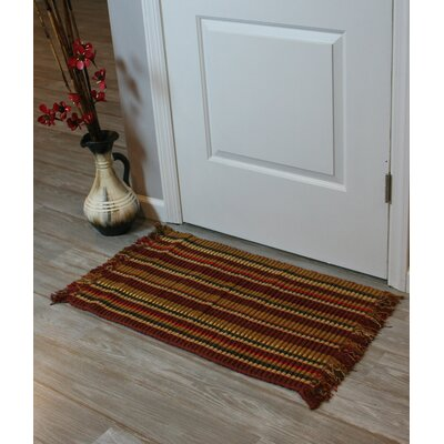 Silk Ribbed Hand-Woven Wine Area Rugs