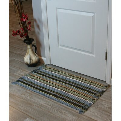 Baldock Silk Ribbed Hand-Woven Spa Area Rug
