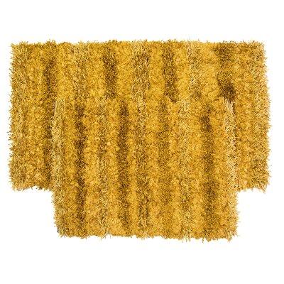 SeaBreeze 2 Piece Hand-Woven Gold Novelty Rug Set