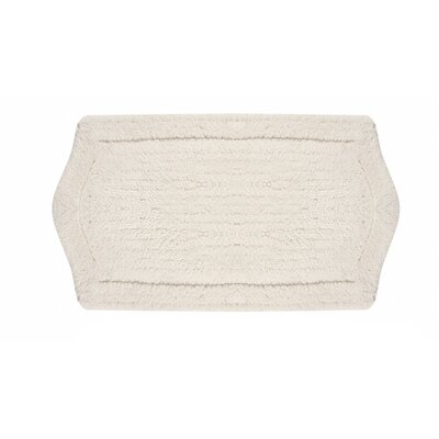 Waterford Bath Rug Size: 21 W x 34 L, Color: White