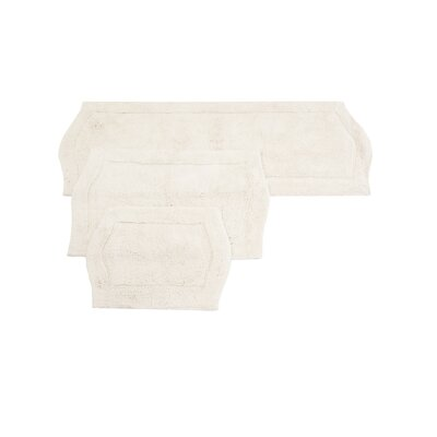 Shera 3 Piece Bath Rug Set Color: White