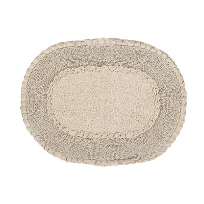 Yinka Double Ruffle Bath Rug Size: 17 W x 24 L, Color: Natural