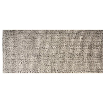 Hand-Woven Rectangle Ash Gray Area Rug