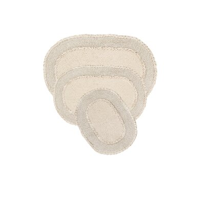 Yashvi Double Ruffle 3 Piece Bath Rug Set Color: Natural