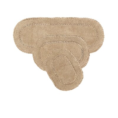 Andruska Double Ruffle 3 Piece Bath Rug Set Color: Linen